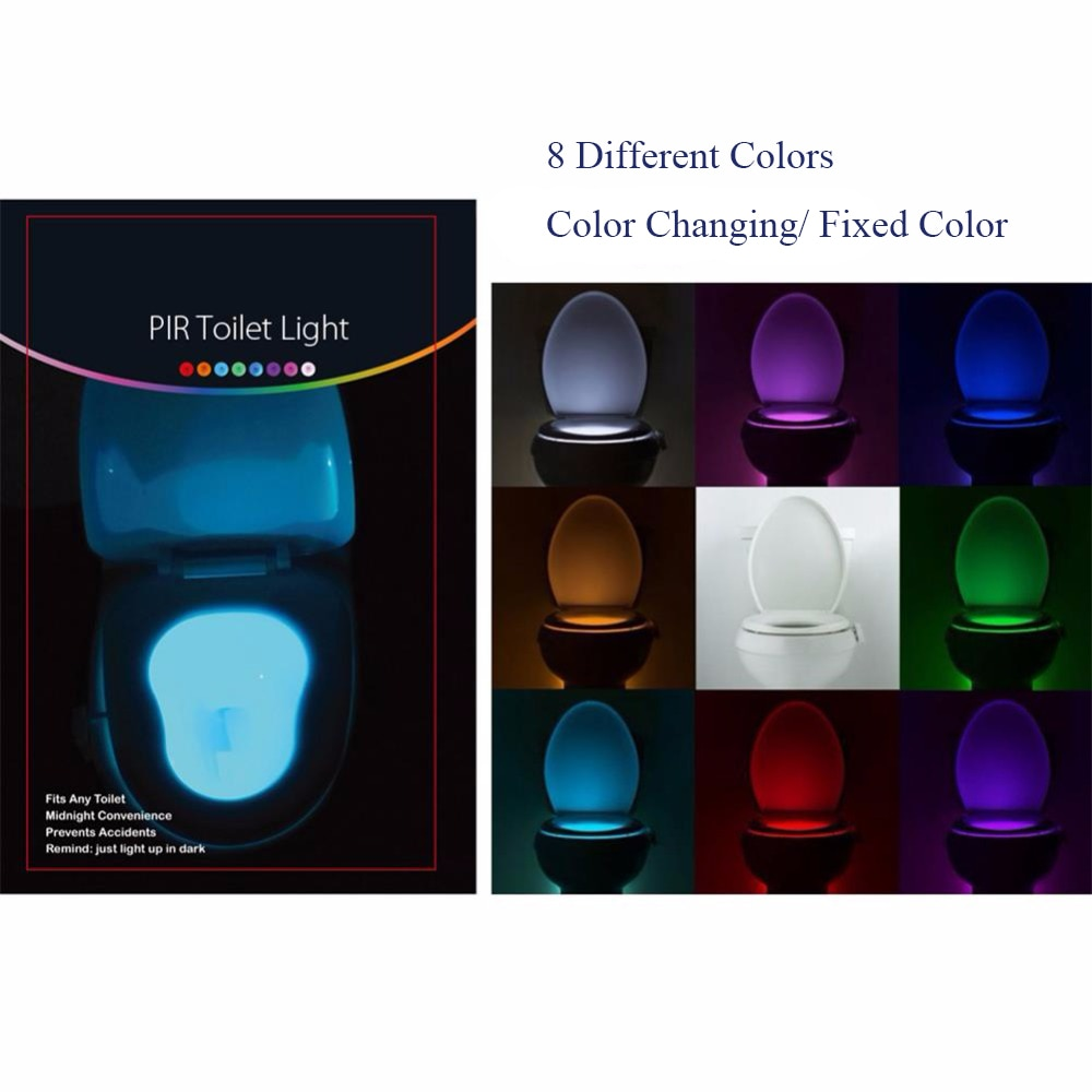 Motion Sensor Toilet Seat Light