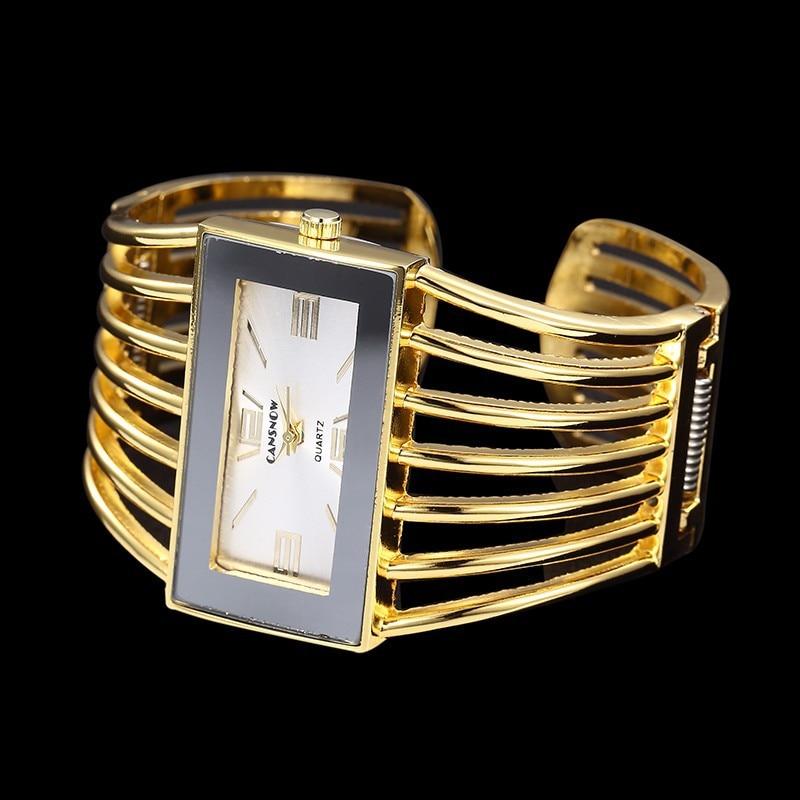 Rose Gold Bangle Bracelet Watch